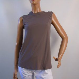 Quick Dry Sleeveless Top Taupe Color